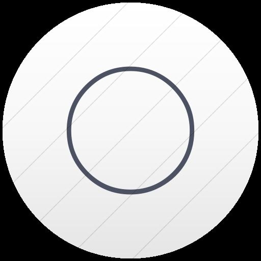 Flat Circle Blue Gray On White Gradient Classica Full