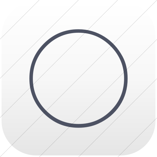 Flat Rounded Square Blue Gray On White Gradient