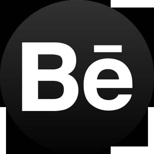 Behance Black Circle Icon