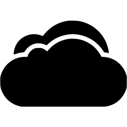 Black Cloud Icon