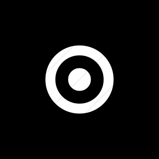Flat Circle White On Black Bootstrap Font Awesome Dot