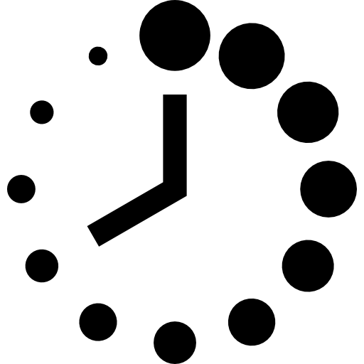 Clock Of Circular Shape With Dots Icons Free Download
