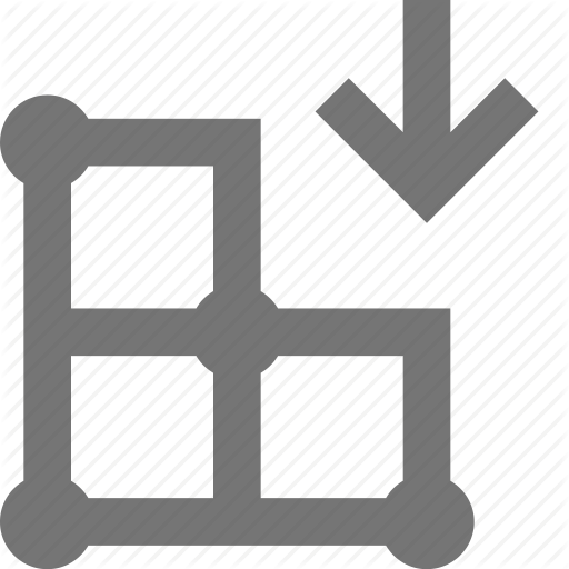 Arrow, Create, Design, Down, Download, Grid, Layout, Tool Icon