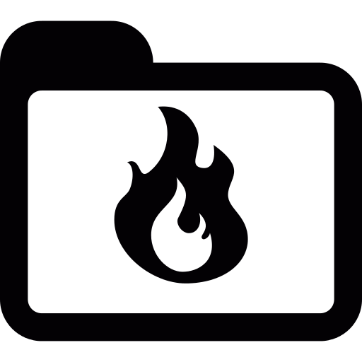 Folder With A Flame Png Icon