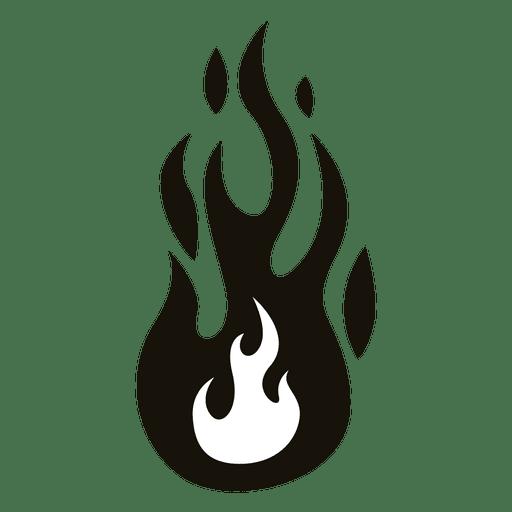 Fire Cartoon Flame Illustration Black White