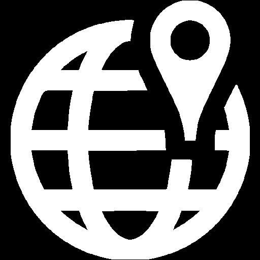White Worldwide Location Icon