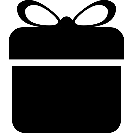 Rounded Square Gift Box With Ribbon Icons Free Download