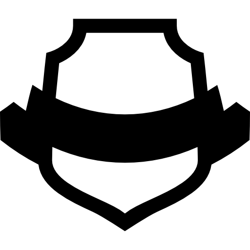 Shield With Banner Icons Free Download