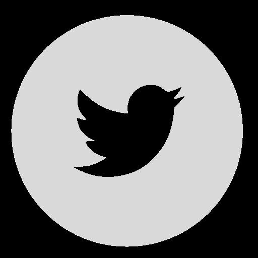 Circle, Gray, Twitter Icon
