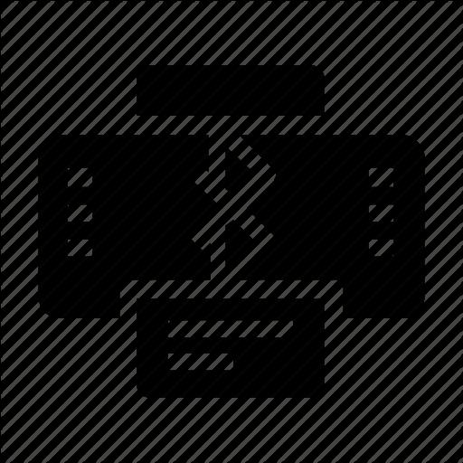Bluetooth, Printer Icon