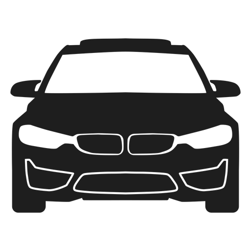 Bmw Car Front View Silhouette