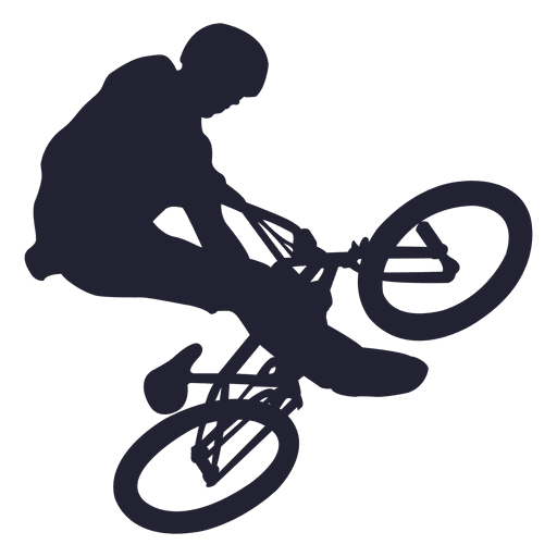 Bmx Bicycle Stunt Silhouette