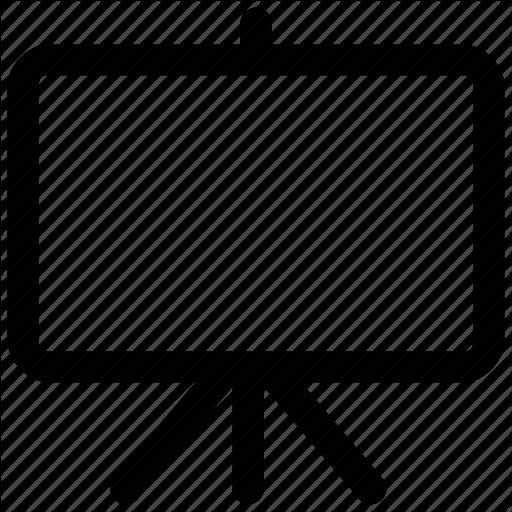Black Board, Board, Chalk Board, White Board Icon Icon