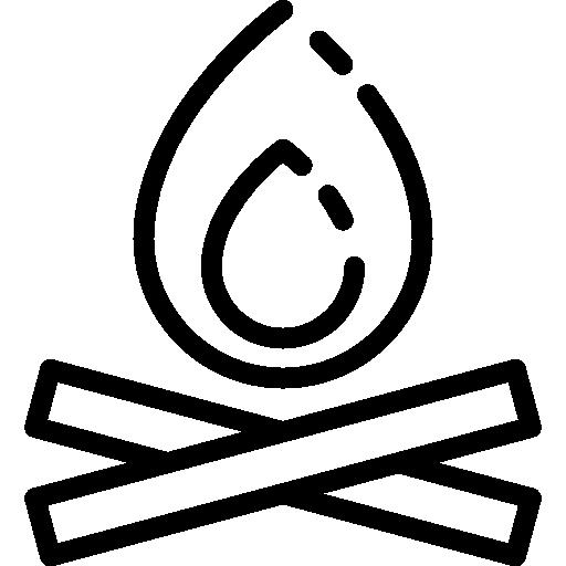 Bonfire Icon Linear Detailed Travel Elements Freepik