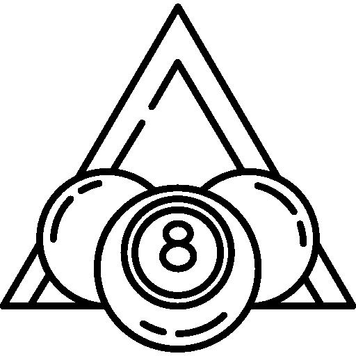 Billiard Balls With Triangle