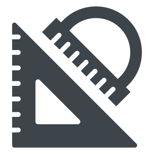 Triangle And Protractor Flat Icon
