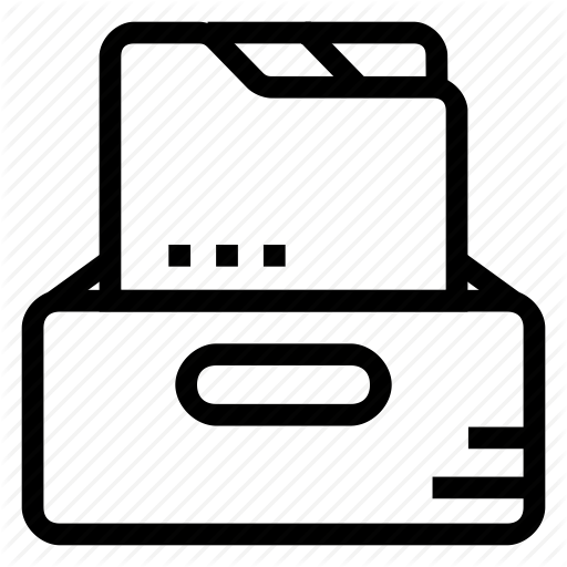 Cabinet, Document, Drawer, Files, Folder Icon