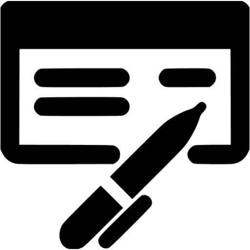 Black Check Book Icon