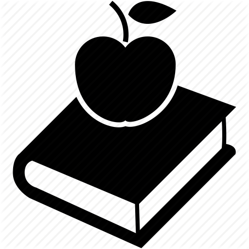 Apple, Book, Break, Food, Lunch Time Icon