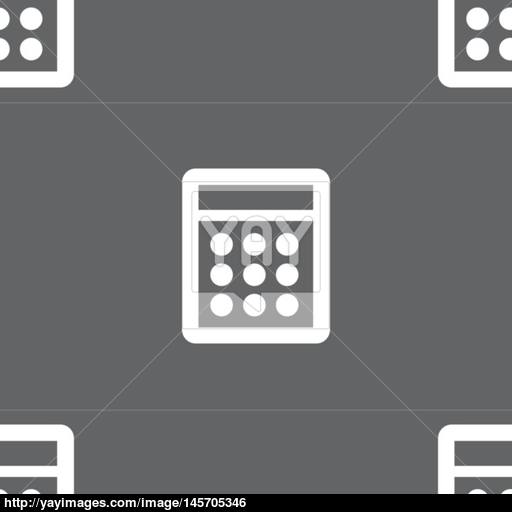 Calculator Sign Icon Bookkeeping Symbol Seamless Pattern