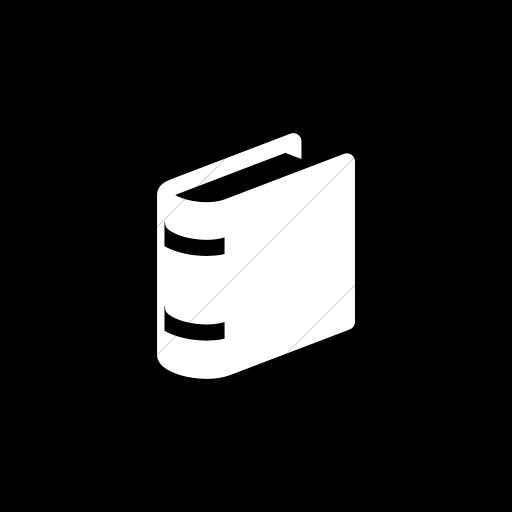 Flat Circle White On Black Raphael Book Icon