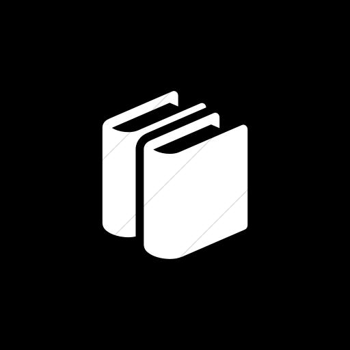 Flat Circle White On Black Raphael Books Icon