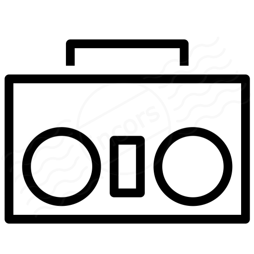 Iconexperience I Collection Boombox Icon