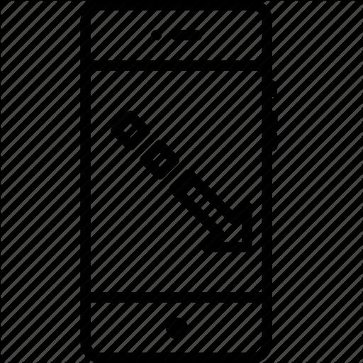 Arrow, Boost, Decrease, Fashion, Mobile, Square, Way Icon