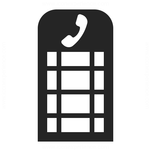 Telephone Box Icon Iconexperience