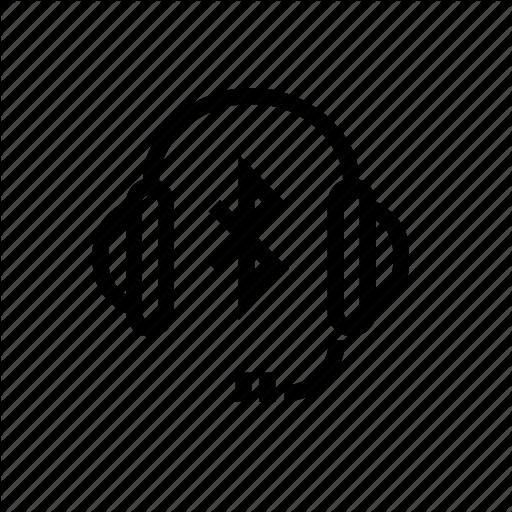 Bluetooth, Earphone, Headphone, Headset, Wireless Icon
