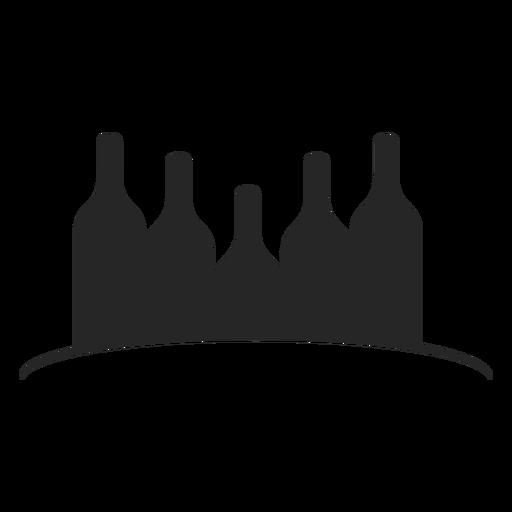 Wine Bottles Flat Icon