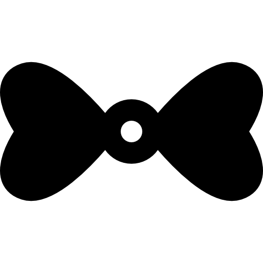 Bow Tie With Hearts Icons Free Download