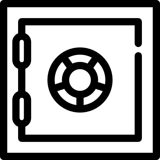Bank Safe Box Icon Ventures Freepik