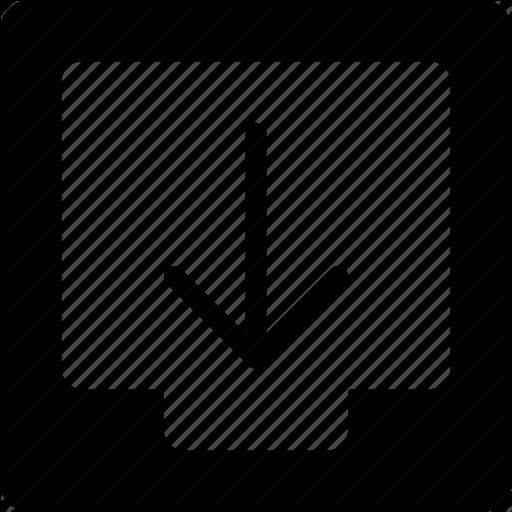 Box, Document, Download, Icon