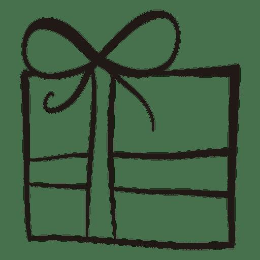 Gift Box Stroke Icon