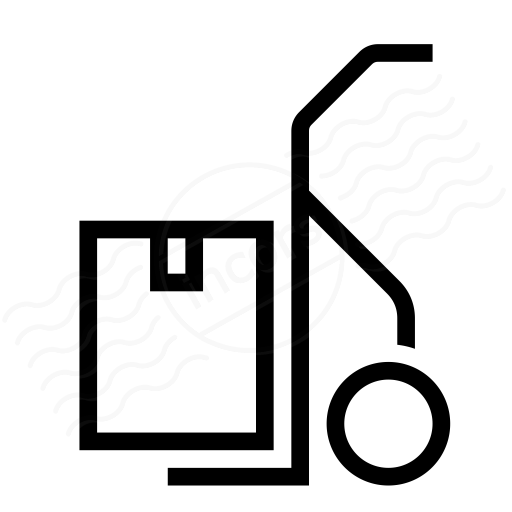 Iconexperience I Collection Hand Truck Box Icon