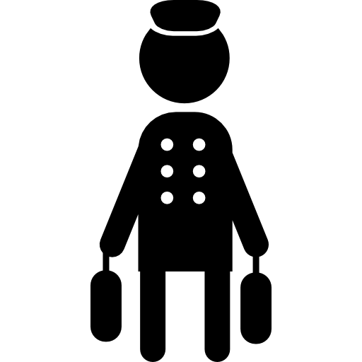Bell Boy With Baggage Icons Free Download