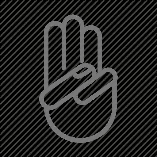 Boy, Finger, Girl, Hand, Oath, Scout, Three Icon