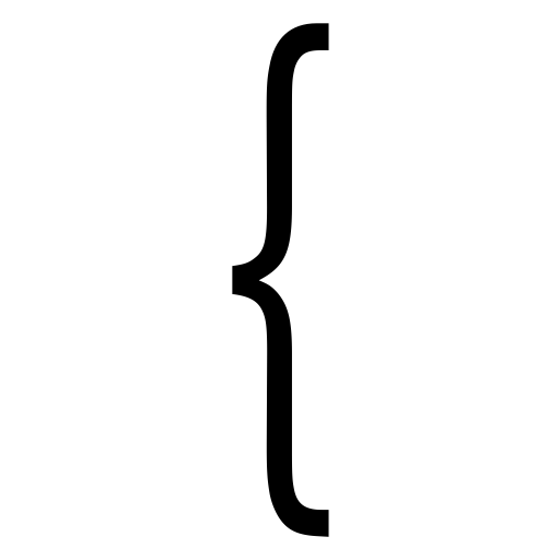Brackets, Monochrome, Linear Icon With Png And Vector Format