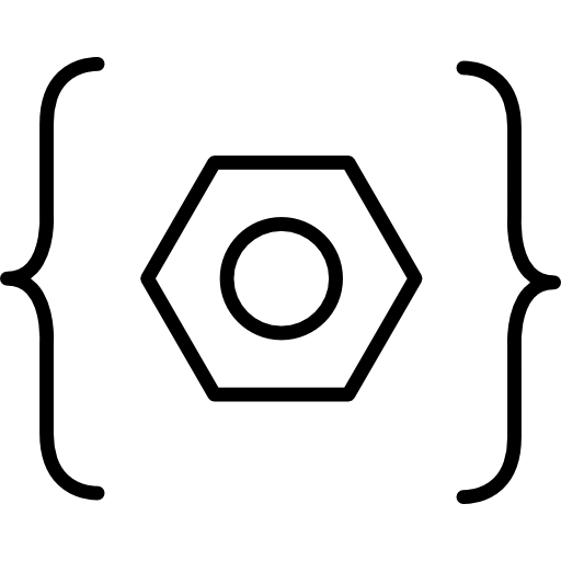 Open And Close Brackets Enclosing A Hexagon Icons Free Download