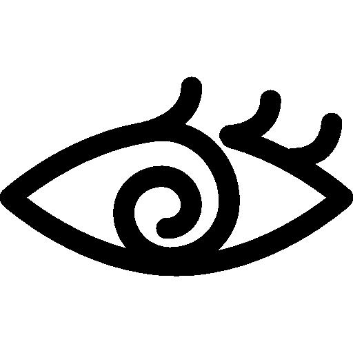 Eye With Spiral Iris Icons Free Download