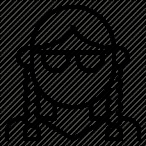 Avatar, Braid, Girl, Glasses, Pigtail, Plait, Woman Icon