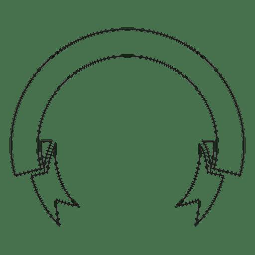 Circular Ribbon Label Emblem