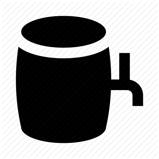 Beer Keg Icon Schematic Diagram
