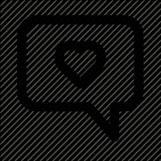 Heart, Love, Romance, Speak, Talk, Wedding Icon