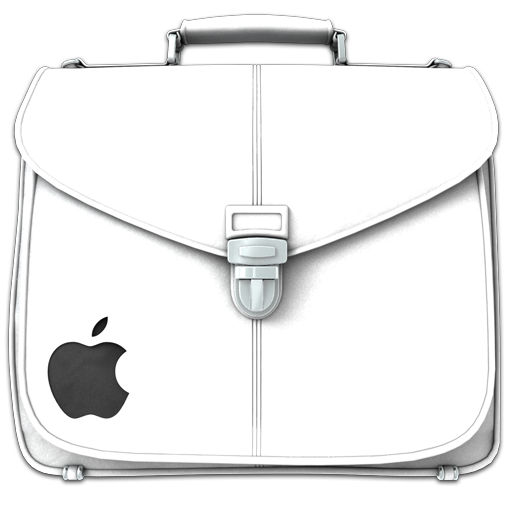 Briefcase Folder White Icon