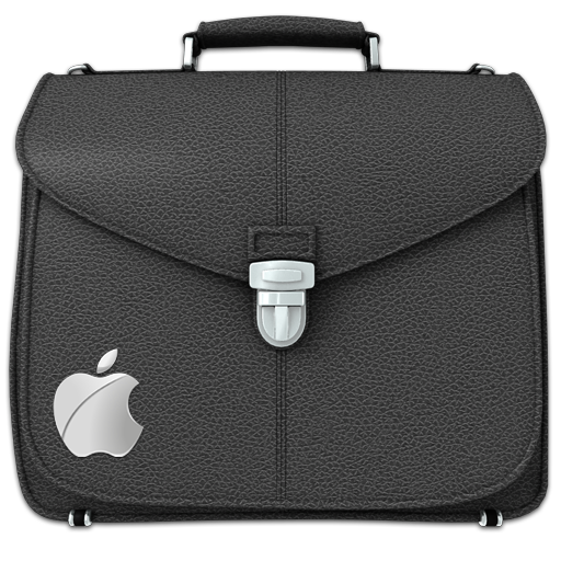 Briefcase Folder Black Icon