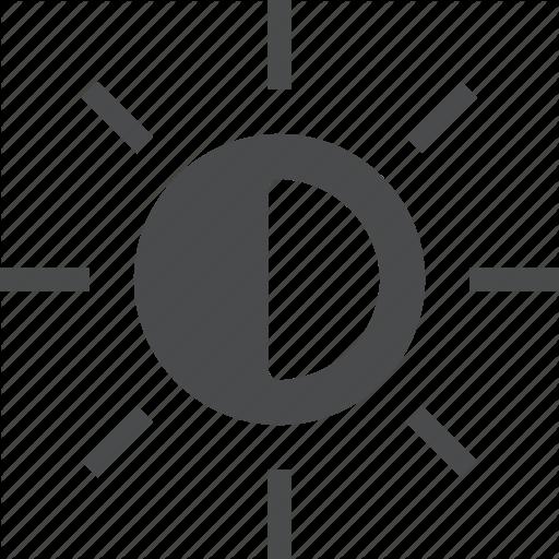 Brightness, Contrast, Sun Icon