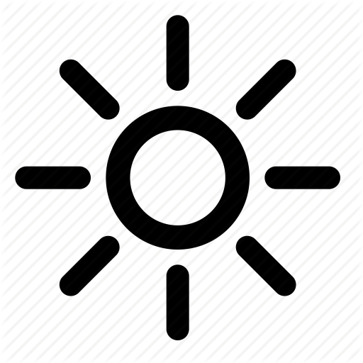 Brightness, Electric, Light, Sun Icon