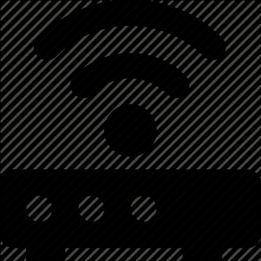 Broadband, Internet, Modem, Router, Wlan Icon